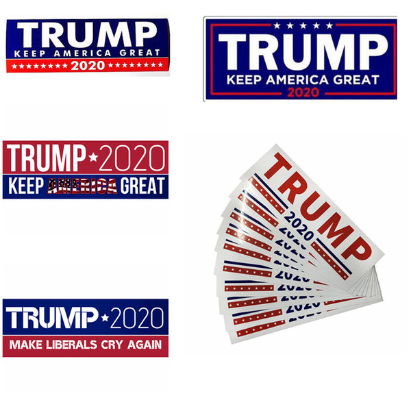 best selling Donald Trump 2020 Car Stickers 7.6*22.9cm Bumper Sticker Keep Make America Great Decal for Car Styling Paster Car Stickers CCA11851 1000pcs