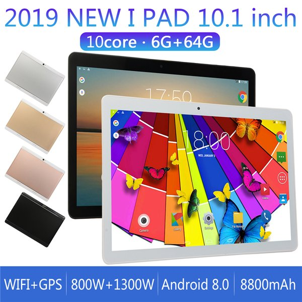 Tablet 10.1 inch IPS screen tablet 6 + 64GB for Android 8.0 PT 3G WiFi call Bluetooth GPS round hole camera tablet