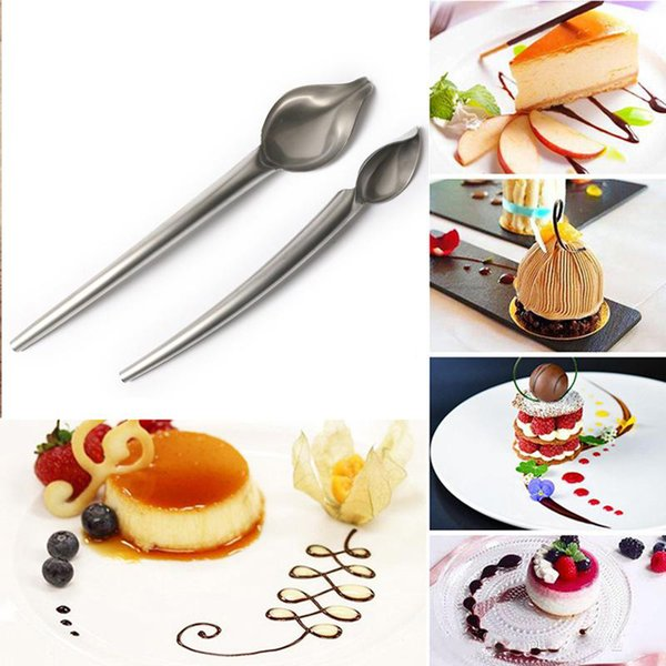 DIY Stainless Steel Chocolate Spoon Pencil Filter Spoons Cake Decoration Baking Pastry Tools Accessories Kitchen Gadget