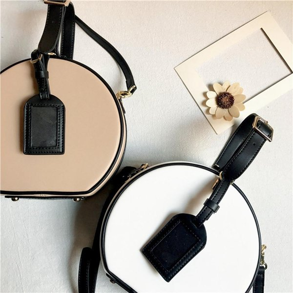 Fashion Women Handbag Genuine Leather Shoulder Bag Round Bags Solid Color Women Small Round Crossbody Bags High Quality
