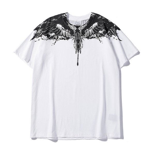 ss New Marcelo Burlon T-Shirt Men Milan Feather Wings T Shirt Men Women Couple Fashion Show RODEO MAGAZINE T Shirts Goros Camisetas