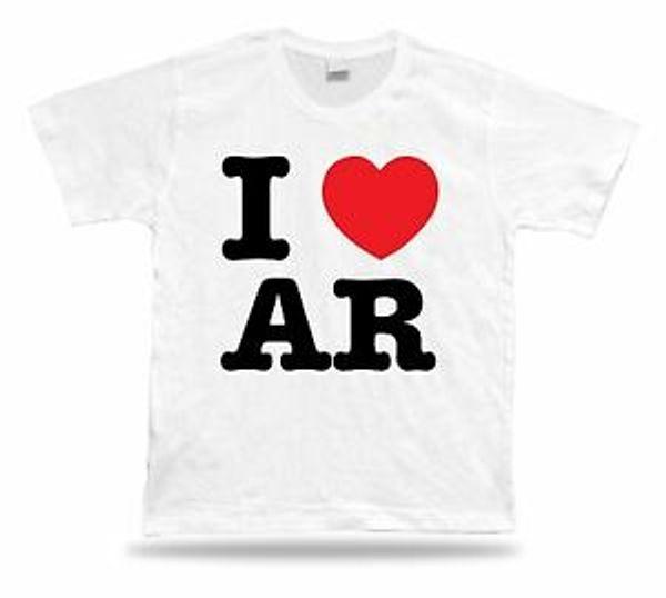 I LOVE AR Arkansas camiseta estilo de la ropa del corazón de la diversión Southern State State State