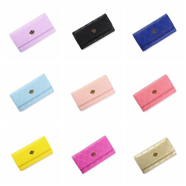 Weibliche heiße verkaufsmappe einfarbig handtaschen Krone rosa violett mode frauen handtaschen Handytasche Geld Coin Pocket