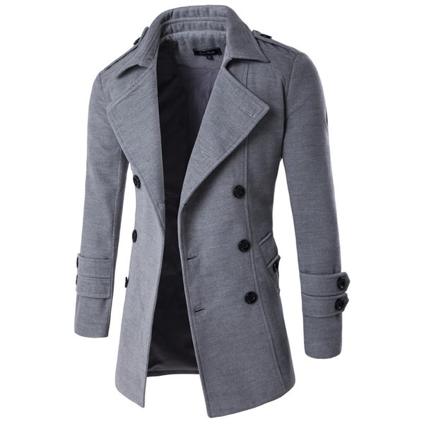 Autumn Winter Jacket Men Peacoat Mens Jackets And Coats Male Brand Clothing Chaqueta Hombre Wool & Blends Men Trench M-xxl J190430
