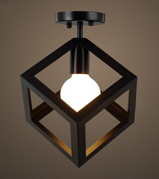 Del Industrial Iluminación Pasillo Balcón Lámpara LED Techo Triángulo Pasillo A88 Techo Hierro Lightingmfrs Luz De 43 Compre De Cuadrado nOwkP0