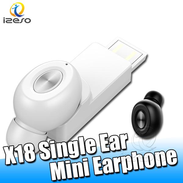 X18 USB Mini TWS Ohrhörer Invisible Wireless Earphone Bluetooth 5.0 Einzelohr-Kopfhörer zum Freisprechen mit Einzelverpackung