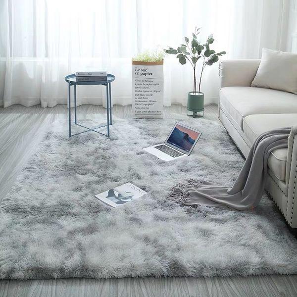 Nordic Mixed Color Carpet Simple Modern Long Suede Bedroom Bedside Living Room Environmental Memory Foam Non Slip Carpet Carpet Cost Tuftex Carpet