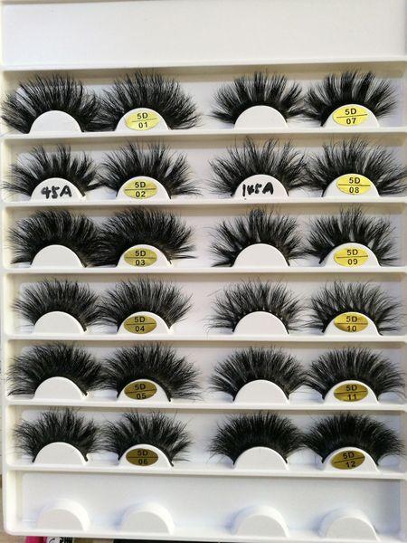 1Pair 3D Eyelashes Full Strip False Eyelash Long Thick Individual Handmade Natural Lashes Extension 12 Styles