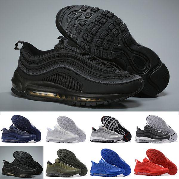 Acheter NIKE Air Max 97 Nouveau 97s Rainbow Chaussures 4219 400 Marque Sean Wotherspoon Hommes Chaussures De Course Chaussures Femmes Meilleures