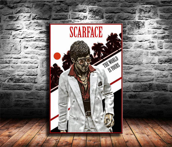 Scarface Al pacino Photo//Picture Print On Framed Canvas Wall Art Home Decoration