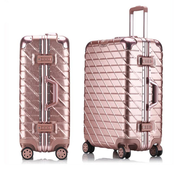 Travel suitcase Rolling Luggage Spinner trolley case 20/29inch boarding wheel Woman Aluminum frame carry-on luggage travel bags