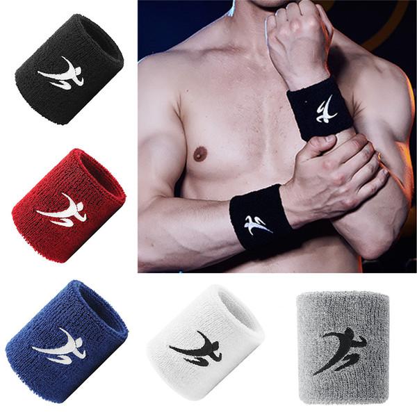 Elastische Armbänder Baumwolle Gym Fitness Gear Support Power Gewichtheben Wrist Wraps für Tennis Basketball Badminton Brace