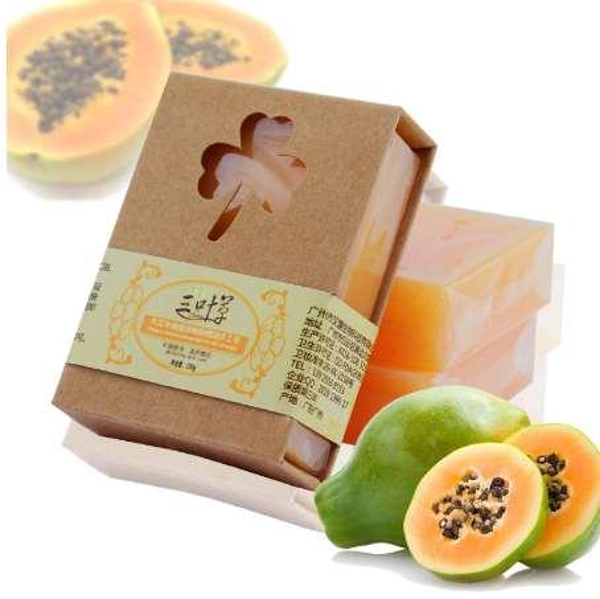 100g Natural Organic Herbal Green Papaya Whitening Handmade Soap Lightening Skin Remove Acne Moisturizing Cleansing
