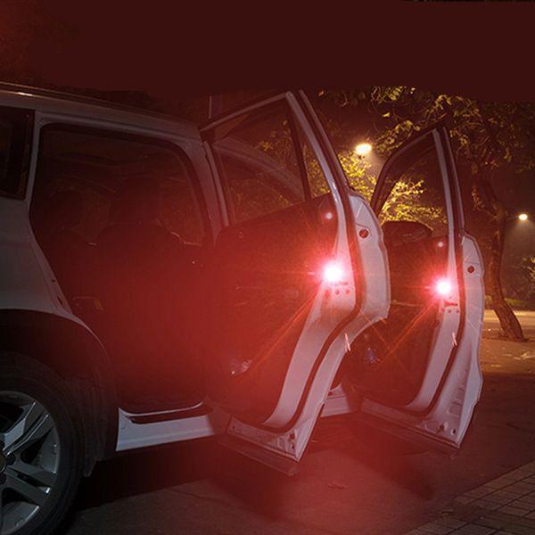 2pcs Automatic Induction LED Car Warning Light Safety Open Door Warning Lamp Universal Car Door Lights