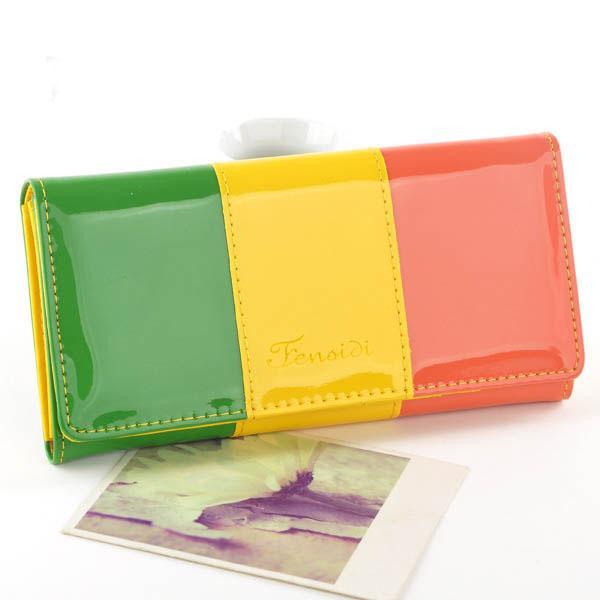 Mode Frauen Lange Brieftaschen Kartenhalter Patent Pu-leder Patchwork Dame Handtaschen Geldbeutel Clutch Wallet Burse Moeny Taschen Pouch