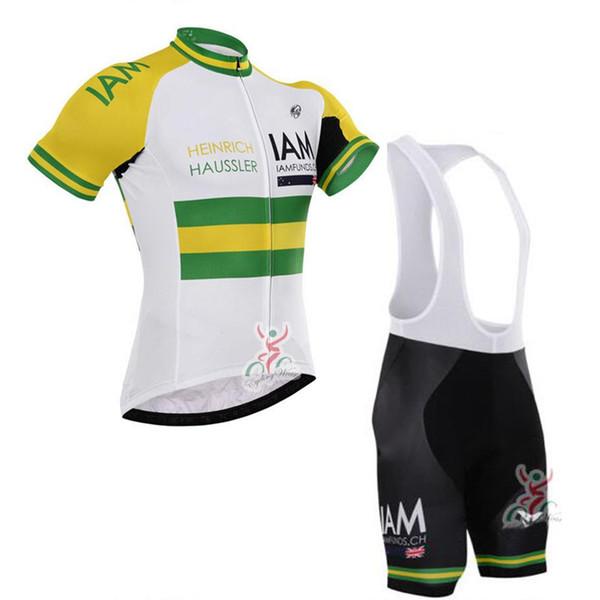 GCN IAM 2019 Summer Men team Ciclismo mangas cortas jersey baberos cortos conjuntos Venta caliente MTB Ropa de bicicleta Ropa deportiva Envío gratis
