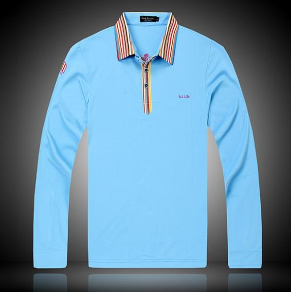 Wholesale 2019 Sports brand designer polo shirt Fashion Luxury Long sleeves t shirts mens Casual Cotton polos with embroidery play golf