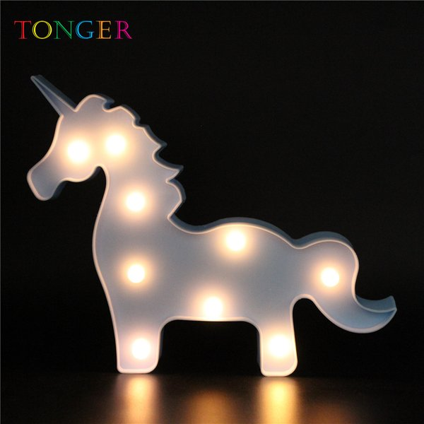 Cute 3D Marquee Giraffe Table Lamp 9 LED Battery Operated Night Light Children's Room Decor 2019
