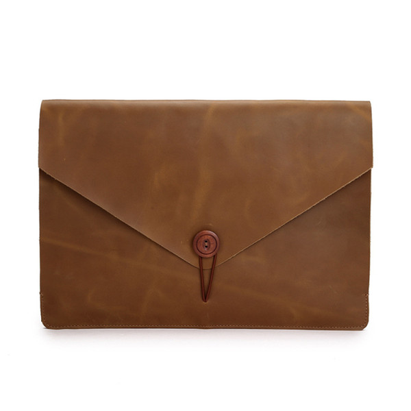 Real leather laptop case air 11 for mac book 13 inch computer inner case 12/13.3 pro 15 case