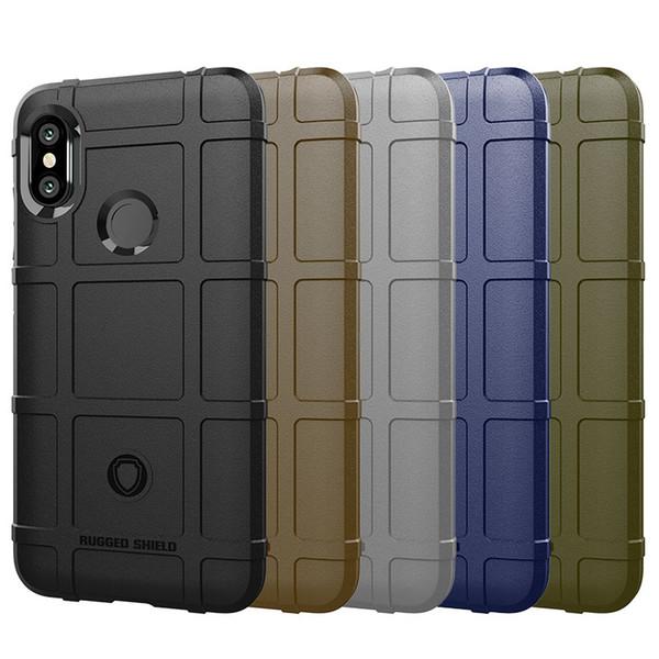 Non Slip Rugged Shield Silicone Armor Case For Xiaomi Redmi Note 6 Pro 6 6A Note5 5 5 Plus Mi8 8 Lite