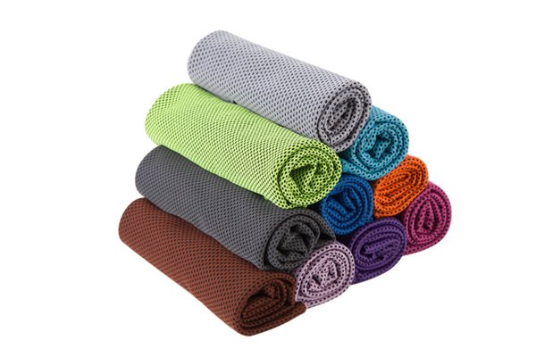 best Ice Cold Towels Double Layer Cool Ice Towel Summer Sunstroke Sports Yoga Exercise Cool Quick Dry Soft Breathable Hand Towels 30*90