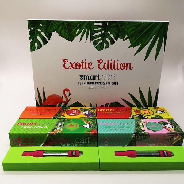 Exotic Edition Smart Carts Pink 510 Cartuccia di cartone Vape Packaging Magnetic Box 0.8ml Cartuccia di penna vaporizzatore Ceramic Coil Copper Tip