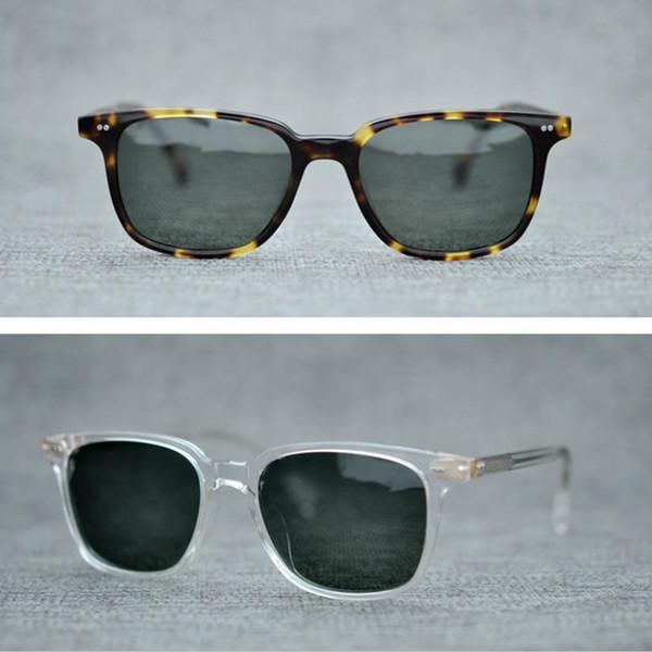 5d8749cfa0 Gafas de sol redondas vintage de marca Oliver Peoples Gafas de sol  polarizadas para hombres Gafas