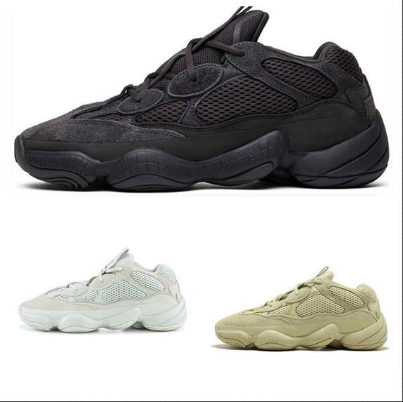 2019 yeni yayınlanan Kanye West 500 eğitmen ayakkabı rahat ayakkabılar adam ayakkabı kadın Çöl Sıçan spor sneakers Yardımcı Siyah Tuz ABD