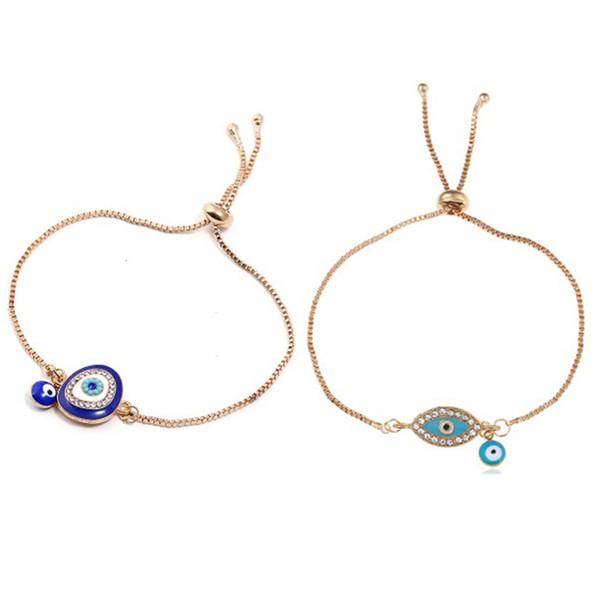 Bleu Mauvais Yeux Réglable Bracelets Bracelets Amour Éléphant Hamsa Fatima Palm Charme À La Mode Originalité Bracelet pour Fête Des Mères Bijoux Cadeau