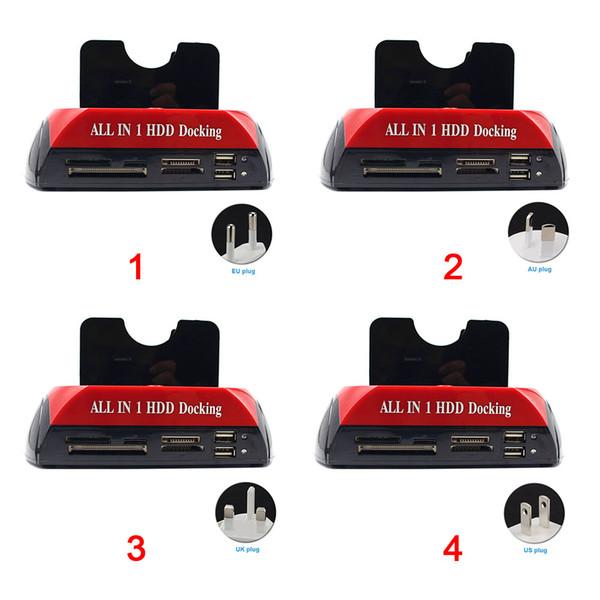 USB 3.0 All-in-One-Basis-HDD-Dockingstation HDD-Gehäusestation mit Steckplatz für mehrere Kartenlesegeräte für IDE \ SATA-Festplatten