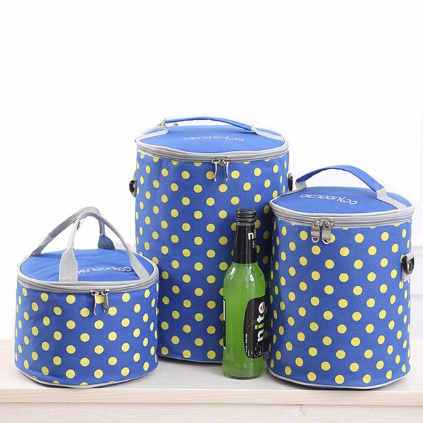 1Round Lunch-box Bag Aluminum Foil Bowl Easy Heat Insulation Barrel Trumpet Sack Set Waterproof Tuba Portable Thickening Bring Meal Package