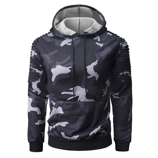 Men's fashion casual youth personality camouflage hoodie sports shirt camouflage hoodie casual fashion pullover