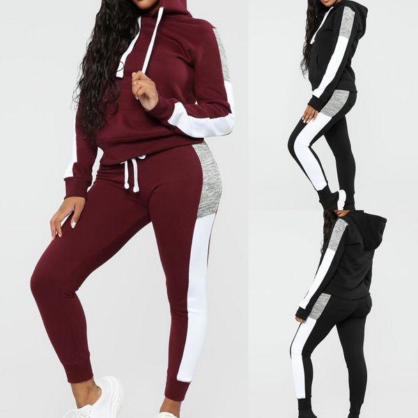 Gym Sweatshirt Women Tracksuit Sport 2pcs Velvet Hoodies Sets Suit Jogging Pants