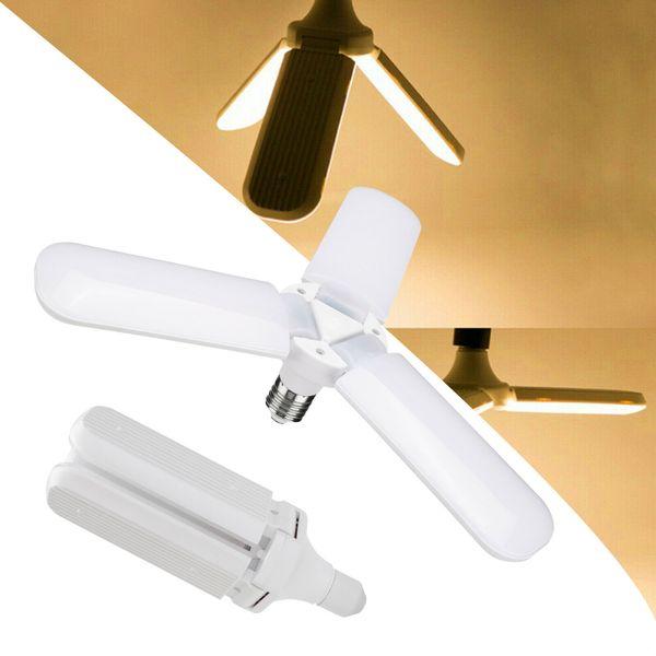 45W E27 Fan Blade LED Glühbirne LED Faltgaragenlampe AC85-265V Verstellbare Deckenbeleuchtung Warmweiß / Kaltweiß