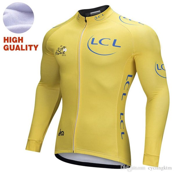 Jersey de ciclismo de lana térmica de invierno para hombres, ciclismo, maillot, ciclismo, ropa deportiva, ciclismo, chaqueta de carreras, bicicleta, ropa superior, ciclismo, amarillo