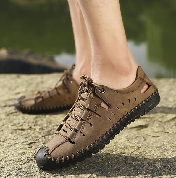 Мода Мода Повседневная обувь Мужчины Летняя обувь Мужская Новая воздухопроницаемая дыра