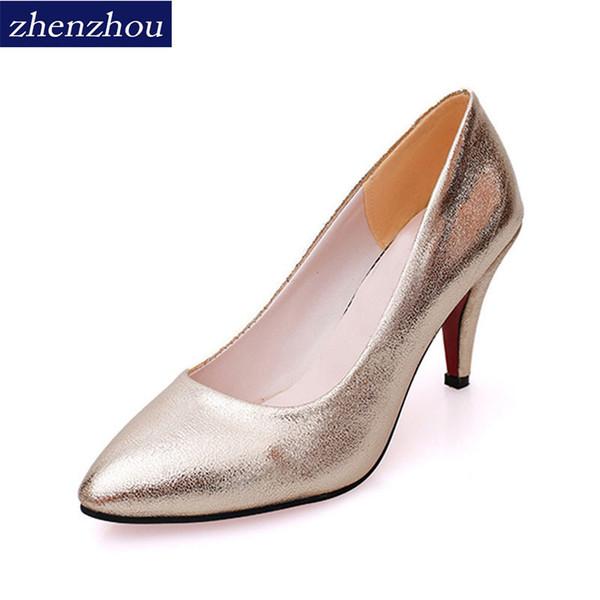2019 New 2018 or talons nouvelles chaussures esthétiques han version de chaussures à talons hauts mariage or