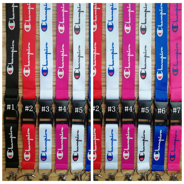 Letter Printed Mobile Phone Lanyard Strap 7 Colors Cell Phone Lanyard Camera ID Card Neck Key Chains OOA6680