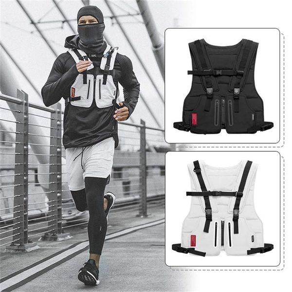 top popular Multi-function Tactical Vest Outdoor Sports Fitness Men Protective Tops Vest DG151 2020