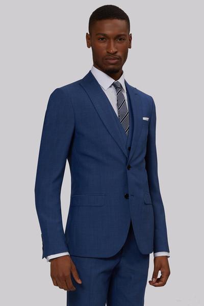 New Custom-made For Black Brothers Groomsmen Classic Groom Tuxedos Men Suits Wedding/Prom/Dinner Best Man Blazer(Jacket+Pants+Tie+Vest)