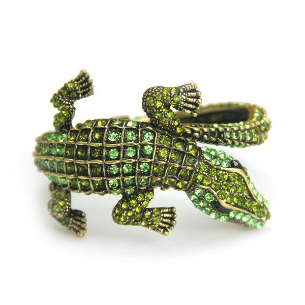 Cross Border Armband, europäischen und amerikanischen antiken Schmuck, Mode Qualität, Legierung, Diamant Krokodil Dame Armband Großhandel
