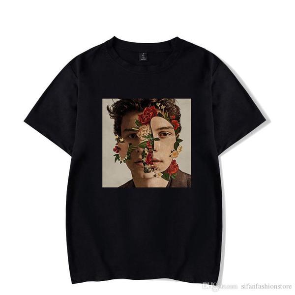 Maglietta casual Camicia da donna Shawn Mendes Taglie forti Camisetas Mujer Poleras De Mujer Maglietta nera Maglietta donna