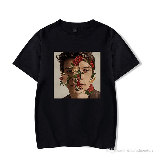 Camisa Ocasional T Mulheres Camisa Shawn Mendes Plus Size Camisetas Mujer Poleras De Mujer T-shirt Mulher Mulher T-shirt Preta