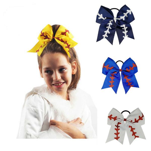 arc cheveux corde pour enfants enfants bande de cheveux accessoires fleur de bulles branche d'olivier arc anneau de cheveux jaune baseball bande de caoutchouc pom-pom girls
