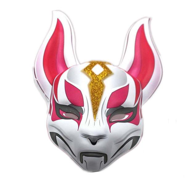 Kühle Unisex Spiel Fox Drift Kunststoff Maske Tier Vollkopf Erwachsene Maske Cosplay Halloween Party Masken Requisiten
