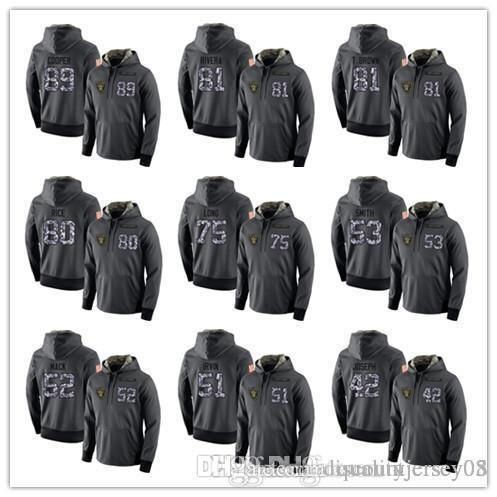 Men's Raiders Dark Gray Admiral Sweater Hoodie Outdoor Clothing