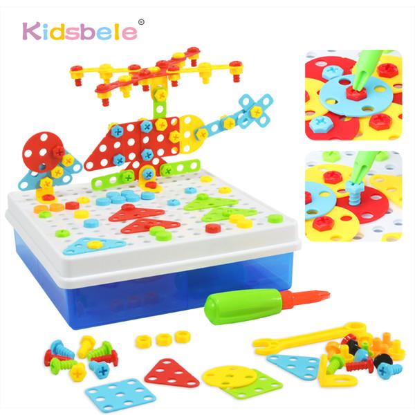 uilding Construction Screwing Blocks Children Education DIY Screw Group Toys Creative Assembled Mosaic Design Funny Game Kids Plastic Pu...