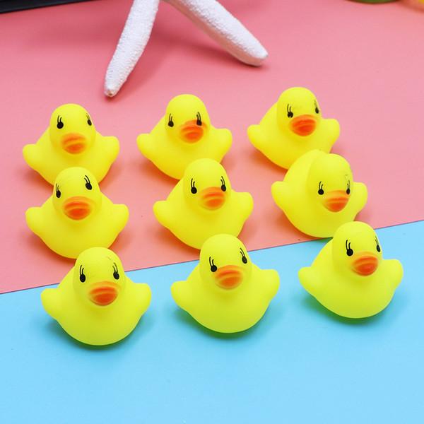 Mini Oyun Su Sarı Ördek Saf Doğal Sevimli Kauçuk Yaz Banyo Oyuncakları Bebek Ördek Ördekleri Oyna Çocuk eğitici oyuncaklar