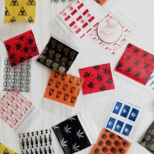 125125 Ziplock Bags 30Design Print Plastic baggies 1.25