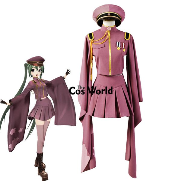 Accessories Cosplay Costumes Vocaloid Hatsune Miku Senbonzakura Kimono Uniform Dress Outfit Anime Cosplay Costumes Whole Set